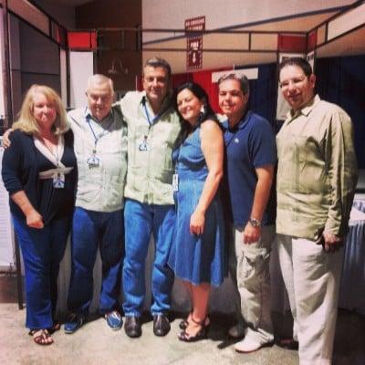 The Babalú crew with Christian Camara
