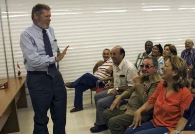 Cuban interim President Raul Castro (2nd