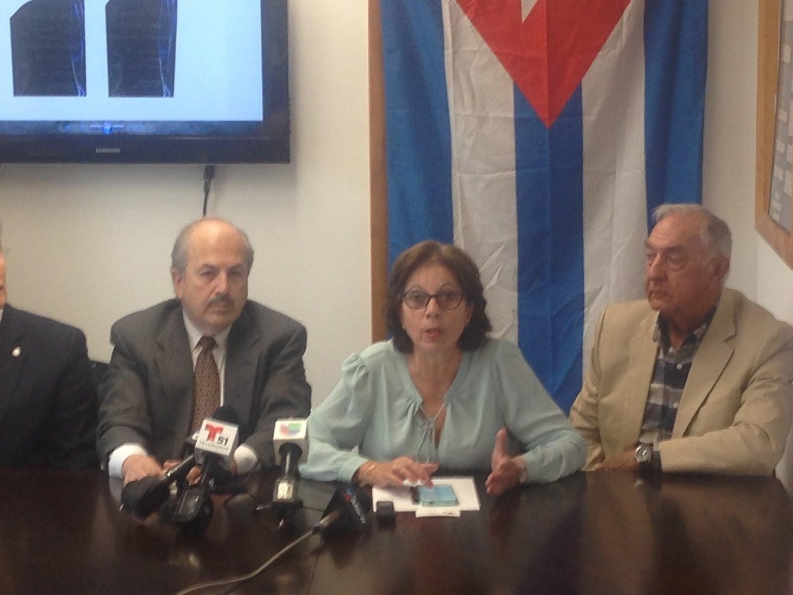 Ofelia Acevedo, Oswaldo Payá Sardiñas's widow addresses the press