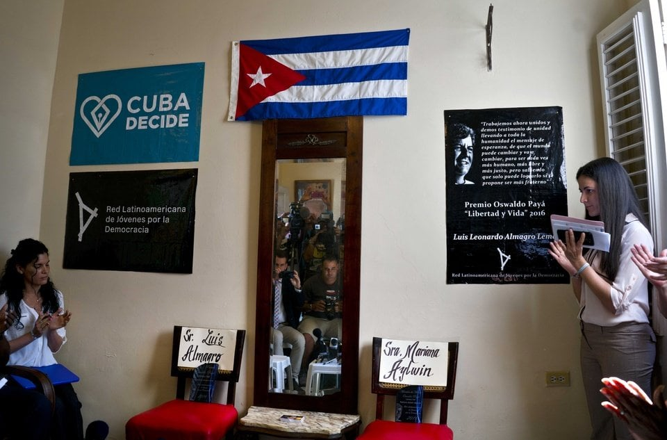 Award ceremony in Havana at 11:00am this morning