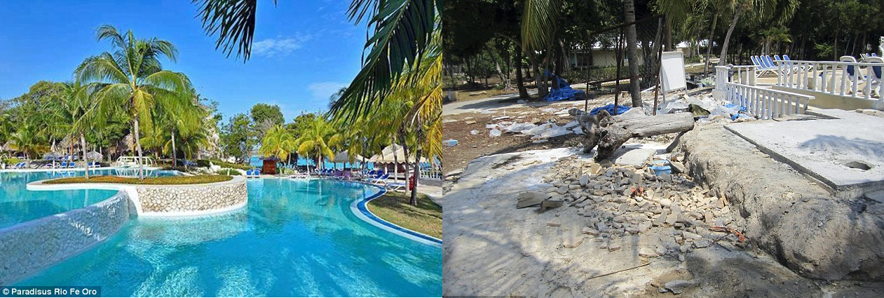 Paradisus Rio de Oro in Holguin: what travel agencies show (left) what tourists see (right)